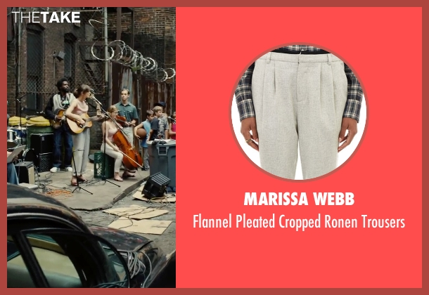 Marissa Webb gray trousers from Begin Again seen with Keira Knightley (Gretta)