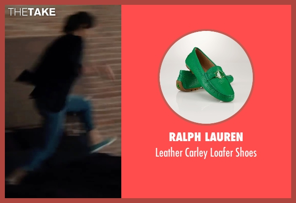 Ralph Lauren green shoes from Begin Again seen with Keira Knightley (Gretta)
