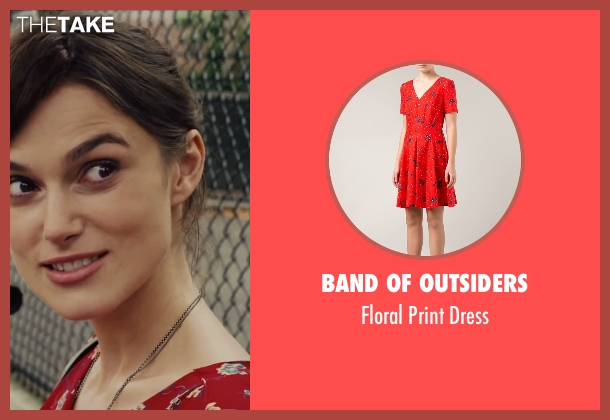 Band of Outsiders red dress from Begin Again seen with Keira Knightley (Gretta)