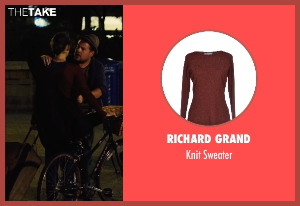 Richard Grand red sweater from Begin Again seen with Keira Knightley (Gretta)