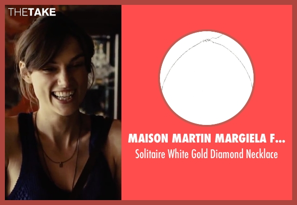 Maison Martin Margiela Fine Jewelry silver necklace from Begin Again seen with Keira Knightley (Gretta)