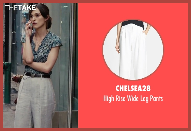 Chelsea28 white pants from Begin Again seen with Keira Knightley (Gretta)