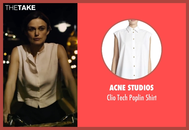 Acne Studios white shirt from Begin Again seen with Keira Knightley (Gretta)