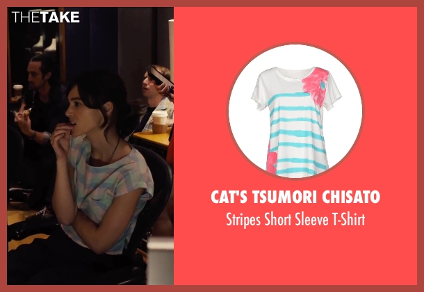 Cat's Tsumori Chisato white t-shirt from Begin Again seen with Keira Knightley (Gretta)