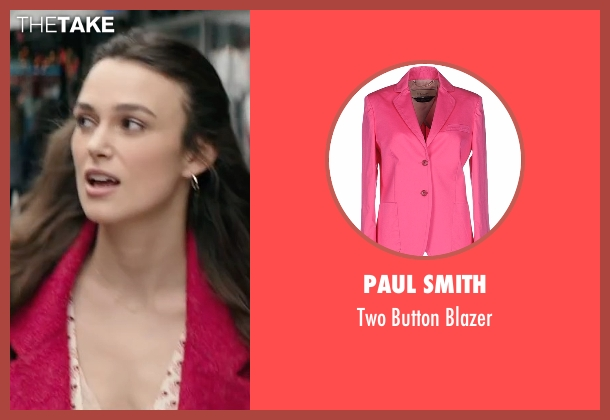 Paul Smith pink blazer from Collateral Beauty seen with Keira Knightley (Aimee Moore)