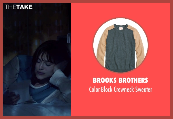 Brooks Brothers blue sweater from Everest seen with Keira Knightley (Jan Hall)