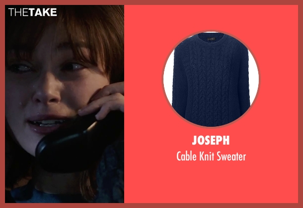 Joseph blue sweater from Everest seen with Keira Knightley (Jan Hall)