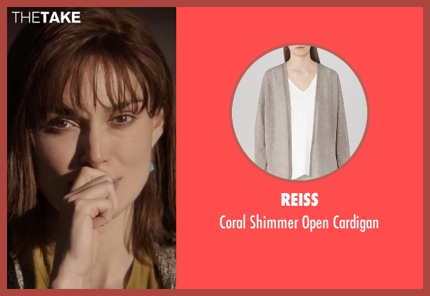 Reiss gray cardigan from Everest seen with Keira Knightley (Jan Hall)