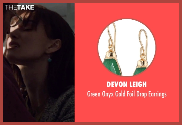 Devon Leigh green earrings from Everest seen with Keira Knightley (Jan Hall)