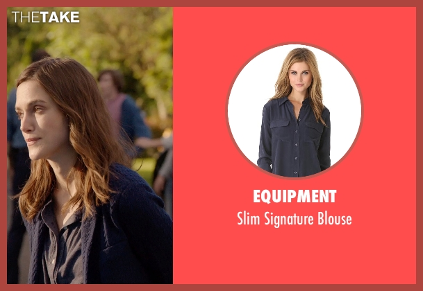 Equipment black blouse from Laggies seen with Keira Knightley (Megan)