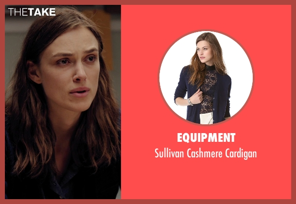 Equipment blue cardigan from Laggies seen with Keira Knightley (Megan)