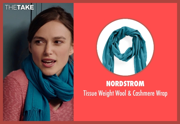 Nordstrom blue wrap from Laggies seen with Keira Knightley (Megan)