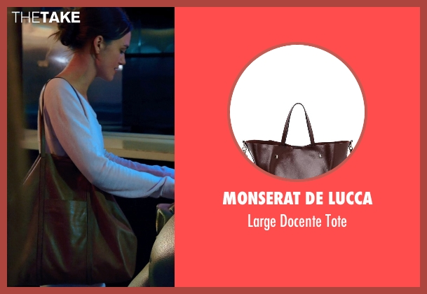 Monserat De Lucca brown tote from Laggies seen with Keira Knightley (Megan)