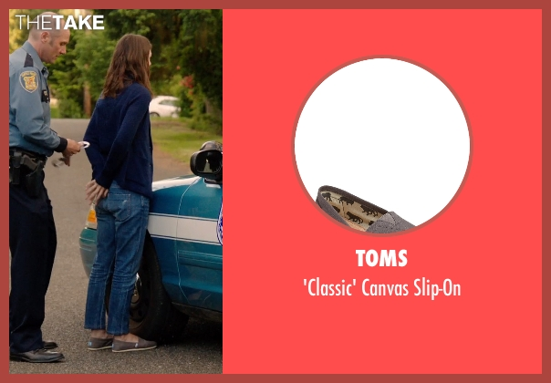 TOMS gray slip-on from Laggies seen with Keira Knightley (Megan)