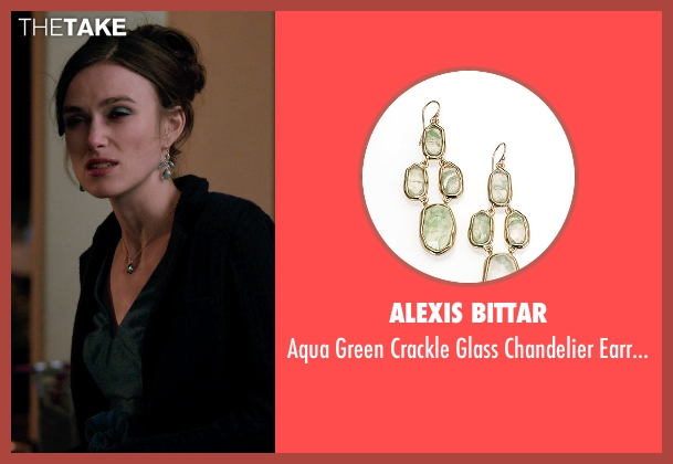Alexis Bittar green earrings from Laggies seen with Keira Knightley (Megan)