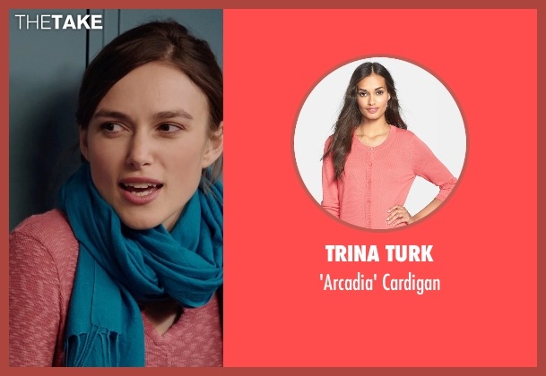 Trina Turk pink cardigan from Laggies seen with Keira Knightley (Megan)