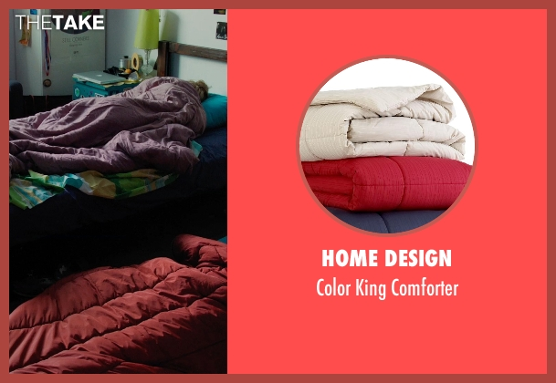 Home Design red comforter from Laggies seen with Keira Knightley (Megan)