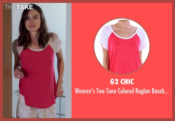 G2 Chic red t-shirt from Laggies seen with Keira Knightley (Megan)