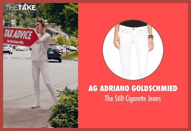 AG Adriano Goldschmied white jeans from Laggies seen with Keira Knightley (Megan)