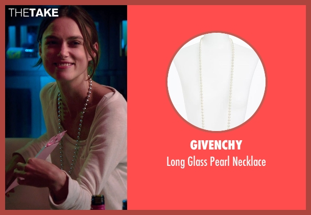 Givenchy white necklace from Laggies seen with Keira Knightley (Megan)