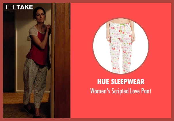 Hue Sleepwear white pant from Laggies seen with Keira Knightley (Megan)