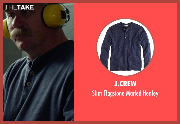J.Crew blue henley from Ride Along seen with Keith Walters (Shotgun Shooter)