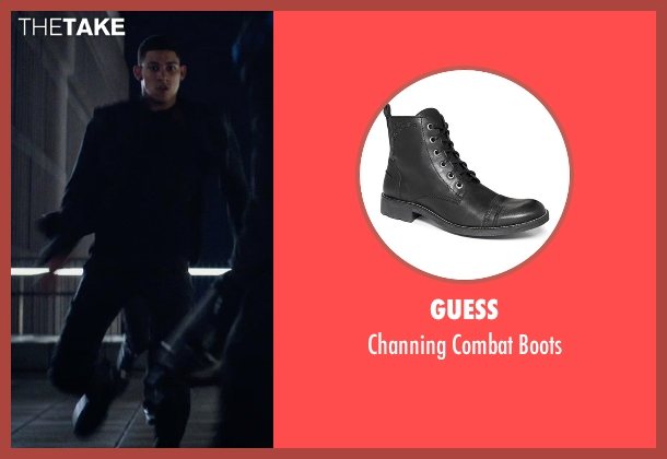 Guess black boots from The Divergent Series: Insurgent seen with Keiynan Lonsdale (Uriah)