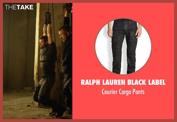 Ralph Lauren Black Label black pants from The Expendables 3 seen with Kellan Lutz (Smilee)