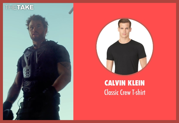 Calvin Klein black t-shirt from The Expendables 3 seen with Kellan Lutz (Smilee)