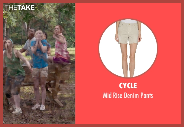 Cycle beige pants from Pitch Perfect 2 seen with Kelley Jakle (Jessica)
