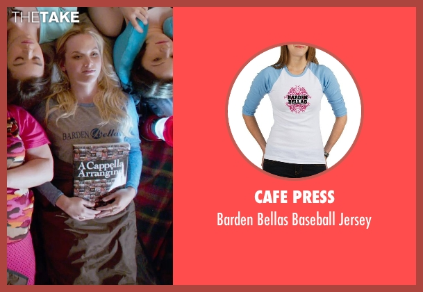 Cafe Press blue jersey from Pitch Perfect 2 seen with Kelley Jakle (Jessica)