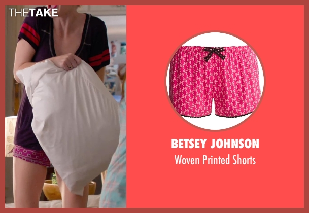 Betsey Johnson pink shorts from Pitch Perfect 2 seen with Kelley Jakle (Jessica)
