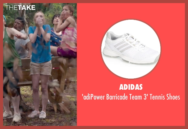 Adidas white shoes from Pitch Perfect 2 seen with Kelley Jakle (Jessica)