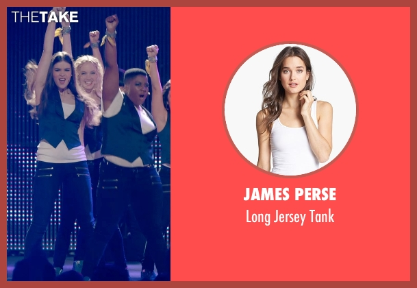 James Perse white tank from Pitch Perfect 2 seen with Kelley Jakle (Jessica)