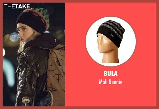 Bula black beanie from Roadies seen with Kelly Ann (Imogen Poots)