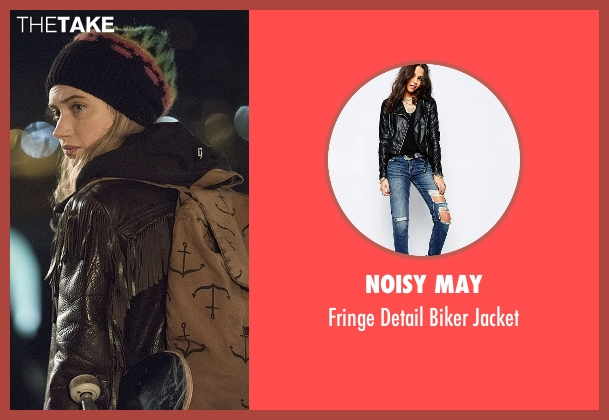 Noisy May black jacket from Roadies seen with Kelly Ann (Imogen Poots)