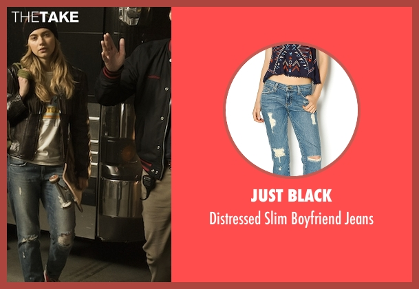 Just Black blue jeans from Roadies seen with Kelly Ann (Imogen Poots)