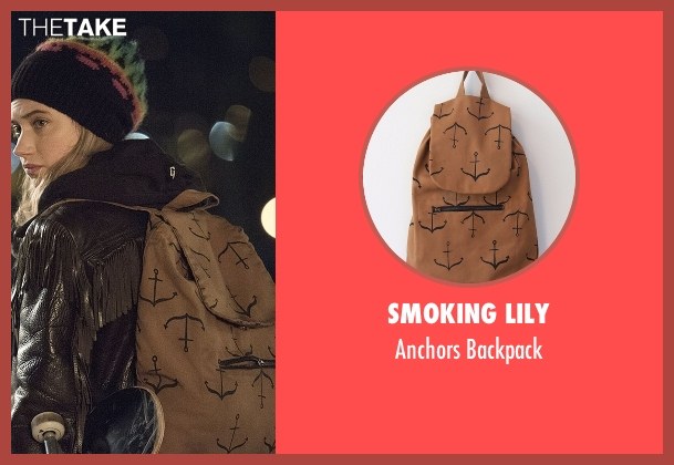 Smoking Lily brown backpack from Roadies seen with Kelly Ann (Imogen Poots)