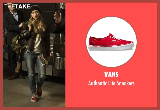 Vans red sneakers from Roadies seen with Kelly Ann (Imogen Poots)