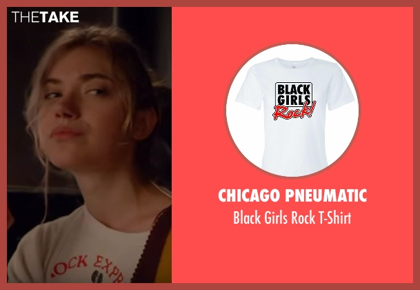 Chicago Pneumatic white t-shirt from Roadies seen with Kelly Ann (Imogen Poots)