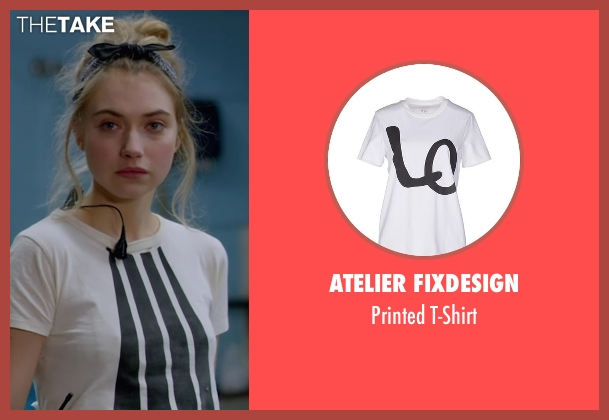Atelier Fixdesign white t-shirt from Roadies seen with Kelly Ann (Imogen Poots)