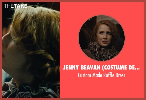 Jenny Beavan (Costume Designer) gray dress from Sherlock Holmes: A Game of Shadows seen with Kelly Reilly (Mary Watson)