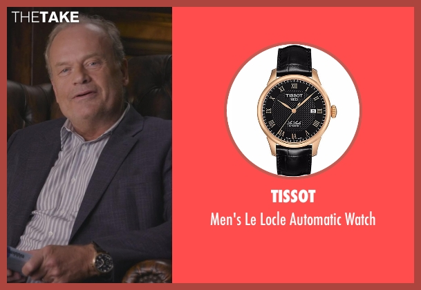Tissot black watch from Chelsea seen with Kelsey Grammer