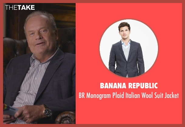 Banana Republic blue jacket from Chelsea seen with Kelsey Grammer