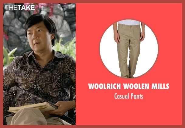 Woolrich Woolen Mills beige pants from Couple's Retreat seen with Ken Jeong (Dr. Paula Agard)
