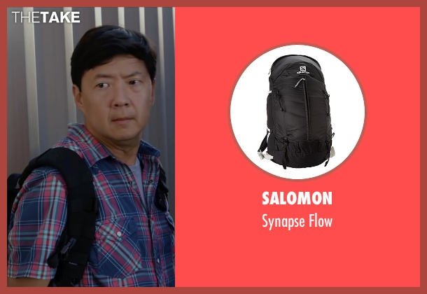 Salomon black flow from Ride Along 2 seen with Ken Jeong (A.J.)