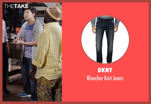 DKNY blue jeans from Ride Along 2 seen with Ken Jeong (A.J.)