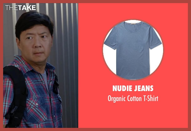 Nudie Jeans blue t-shirt from Ride Along 2 seen with Ken Jeong (A.J.)
