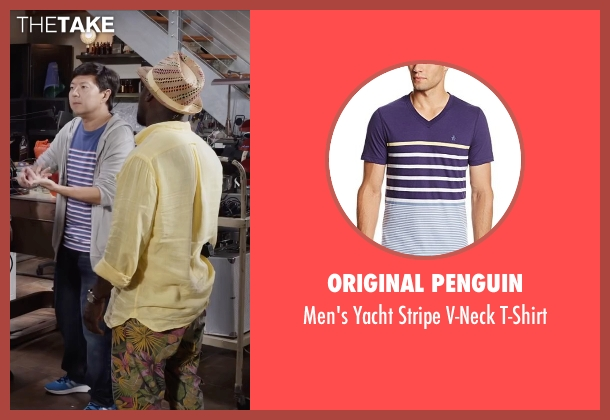 Original Penguin blue t-shirt from Ride Along 2 seen with Ken Jeong (A.J.)