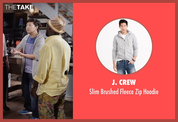 J. Crew gray hoodie from Ride Along 2 seen with Ken Jeong (A.J.)